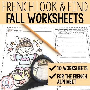 C'est moi l'espion! L'automne (Fall/Autumn I Spy - French Alphabet Practice)