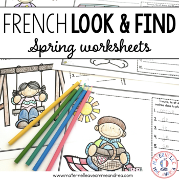 C'est moi l'espion! Le printemps (Spring I Spy - French Sight Word Practice)