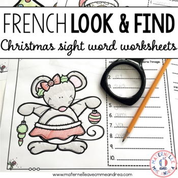 C'est moi l'espion! Noël (Christmas I Spy - French Sight Word Practice)