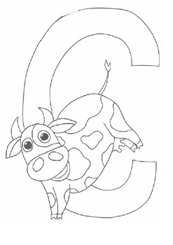 C for Cow Colouring Sheet