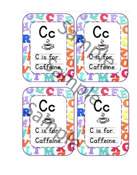 C is for Caffeine Teacher Gift Tags by Justine Martinez | TpT