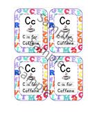 C is for Caffeine Teacher Gift Tags