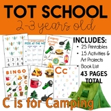 Tot School: C is for Camping