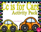 Letter of the Week - C is for Cars Preschool Kindergarten Alphabet Pack