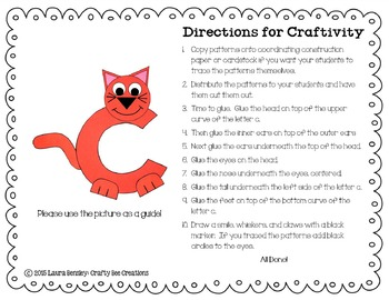Lowercase C is for Cat Cut and Paste