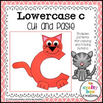 C is for Cat Cut and Paste