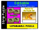 C is for Cat - Expandable & Editable Strip Puzzle w/ Multi