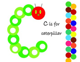 C is for Caterpillar pom pom mat