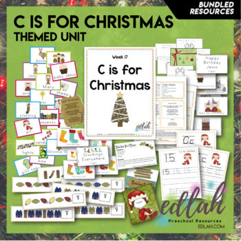 C is for Christmas Themed Preschool Lesson Plans (one week curriculum)