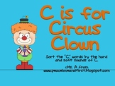C is for Circus Clown - Sorting by the Hard and Soft Sounds of C