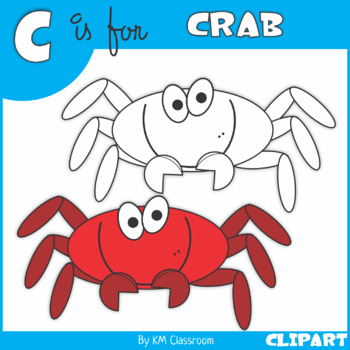 C is for Crab Clip Art