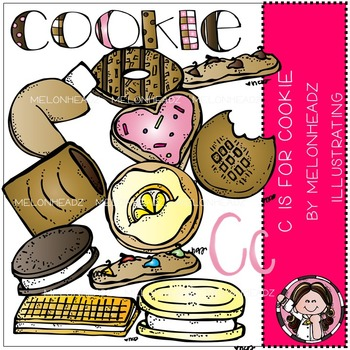 Melonheadz: C is for cookie clip art - COMBO PACK