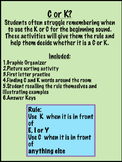 C or K rule beginning sound activity - no prep pack!