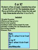 C or K rule beginning sound activity - no prep pack!