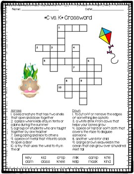 C vs. K Crossword Puzzle