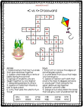 C vs. K Crossword Puzzle