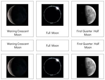 C010: 3 pt cards - PHASES OF THE MOON
