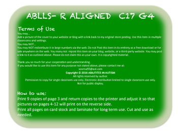 C17 G4 ABLLS- R ALIGNED receptive/expressive ID of 100 pictures