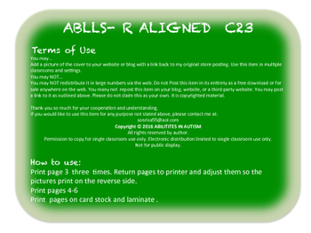 C23 ABLLS- R ALIGNED touch 3+ parts of 10 Objects