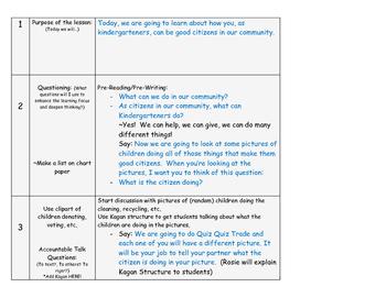 C3 Framework Social Studies Lesson for Kindergarten