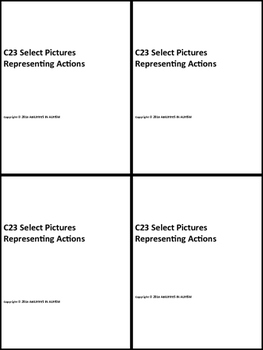 C35 ABLLS- R ALIGNED select 1 of 3 pictures representing actions