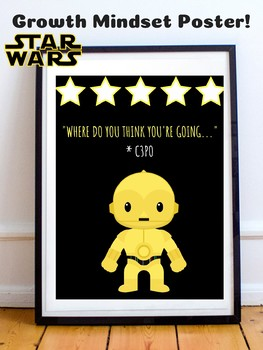 C3po Star Wars Growth Mindset Poster Theme Classroom Decor Posters.