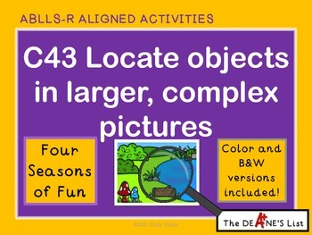 C43 Locate objects in larger, complex pictures: 4 Seasons of Fun