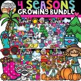 Four Seasons Clipart Growing Bundle {Seasons Clipart}