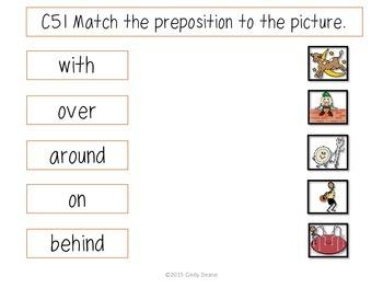 ABLLS-R ALIGNED ACTIVITIES C51 Receptive Prepositions with SymbolStix