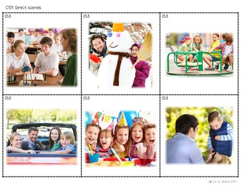 C53 Select pictures representing a location or an activity presented in a scene