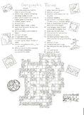 CA 4th Grade Geographic Terms Crossword Puzzle