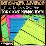 CA Benchmark Advance, Questions For Close Reading Texts, 4