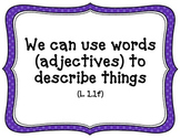 CA-CCSS Language Standards -1st Grade (kid friendly)