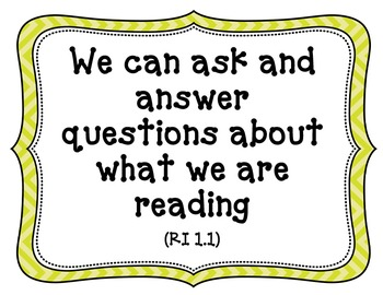 CA-CCSS Reading Standards (Informational Text)-1st Grade (kid friendly)