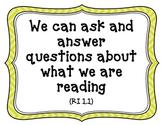 CA-CCSS Reading Standards (Informational Text)-1st Grade (