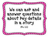 CA-CCSS Reading Standards (Literature)-1st Grade (kid friendly)
