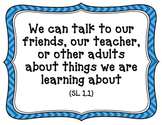 CA-CCSS Speaking and Listening Standards -1st Grade (kid f