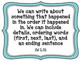 CA-CCSS Writing Standards -1st Grade (kid friendly)