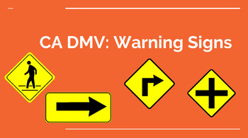 Ca Dmv Warning Sign Powerpoint By Everything Transition By Teacher Sosa