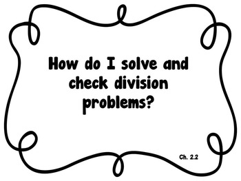 CA Go Math 5th Grade Resource Packet-Ch 2 Essential Questions & Daily Objectives