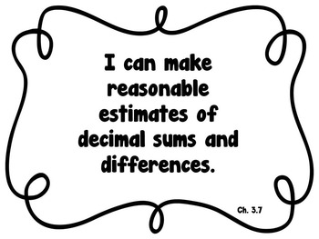 CA Go Math 5th Grade Resource Packet-Ch 3 Essential Questions & Daily Objectives