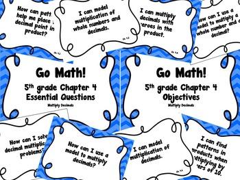 CA Go Math 5th Grade Resource Packet-Ch 4 Essential Questi