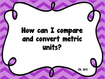 CA Go Math 5th Grade Resource Packet-Ch10 Essential Questions & Daily Objectives