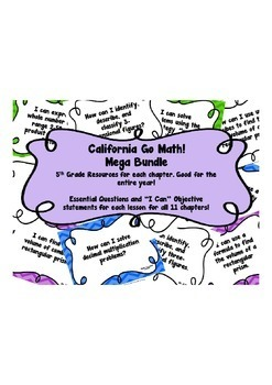 CA Go Math 5th Grade Resource Packet Mega Bundle - Discounted!