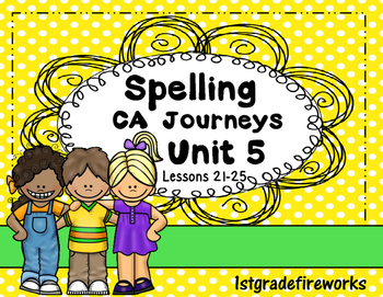 Supplement ...Spelling Units 5 & 6..Grade 1