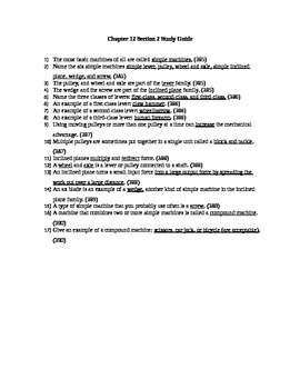 CA Physical Science- Chapter 12 Section 2 Study Guide