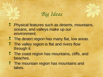 """CA Social Studies - Third Grade - 3.1 """"Land and Water in Your Area"""""""