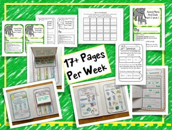 CA Treasures • Animal Moms and Dads • Interactive Notebook • Unit 2 Week 1