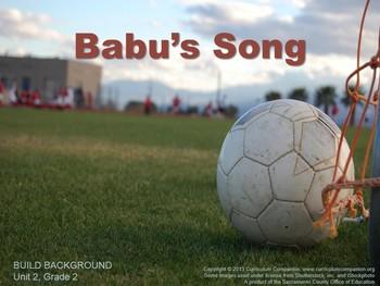 CA Treasures Babu's Song Grade 2 Unit 2 (Common Core Standards)