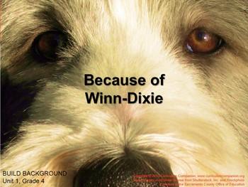 CA Treasures Because of Winn-Dixie Grade 4 Unit 1 (Common